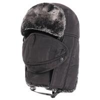 冬天中老年帽子男士护脖东北雷锋帽 保暖加厚护耳老人帽