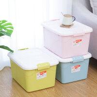 禧天龙中号31L收纳箱3个装家用衣服玩具整理箱储物箱盒清新糖果色
