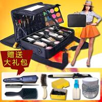隔板大号化妆箱包化妆师跟妆手美容纹绣工箱保可套杆 大大号长45 宽3215