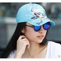 户外女帽 运动鸭舌帽子蝴蝶刺绣春夏天女士遮阳棒球帽韩版潮