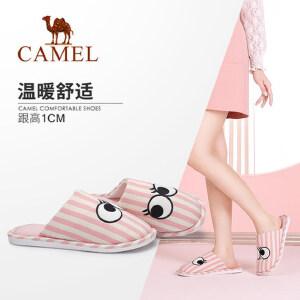 骆驼女鞋 新款 韩版室内可爱简约女士拖鞋保暖居家棉拖女