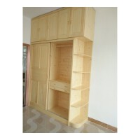20190402214535013定制做实木新西兰松木白腊木红橡橡胶原木全屋家具衣柜榻榻米 2门