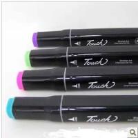 (支持货到付款哦)韩国touch三代 3代漫画设计双头酒精油性进口笔头马克笔套装送笔袋
