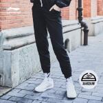 李宁卫裤女士新款训练长裤女装裤子冬季收口针织运动裤AKLL296