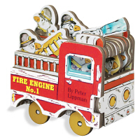 迷你车玩具书系列 小小消防车 纸板书英文原版Mini Fire Engine儿童玩具车车书