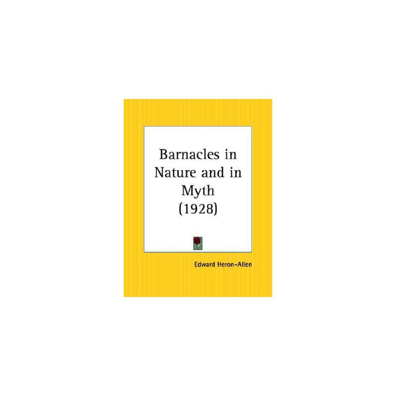 【预订】Barnacles in Nature and in Myth 9780766157552 美国库房发货,通常付款后3-5周到货!