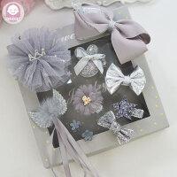 韩版时尚小公主发夹礼盒皇冠蝴蝶结小女孩头饰婴儿童饰品宝宝发卡