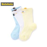巴拉巴拉宝宝袜子棉儿童棉袜夏季薄款男童长筒防滑地板袜三双装男
