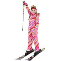 儿童冬季套装双板女童登山服两件套滑雪服