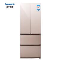 松下冰箱NR-D380TX-XN380升风冷无霜变频多门冰箱钢化玻璃(尊雅金)