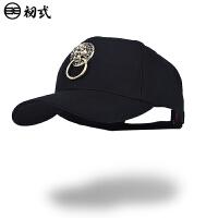 初�qdra联合中国风潮牌鸭舌帽子男女个性复古狮子头弯檐帽16024