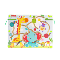 【当当自营】费雪 Fisher Price 磁性运笔迷宫动物乐园 平衡滚珠走珠磁力儿童益智木制早教玩具 FP3001