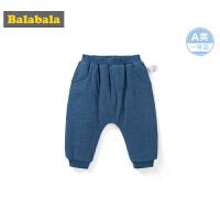 巴拉巴拉宝宝冬装2019新款婴儿裤子男童长裤运动裤保暖pp裤加厚男