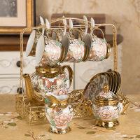 【家装节 夏季狂欢】欧式茶具陶瓷咖啡具骨杯套装英式整套家用下午杯具 14件