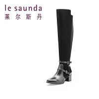 莱尔斯丹 秋冬款长筒粗跟过膝靴女靴 8T40831