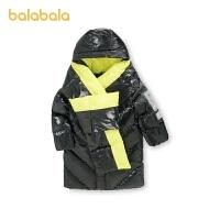【1.20年�� 3件6折: 371.9】巴拉巴拉�和�亮面羽�q服男童冬�b中大童外套中�L款保暖潮