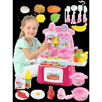贝恩施过家家厨房玩具 儿童过家家女孩做饭煮饭厨具餐具玩具套装