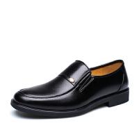 宜驰EGCHI 正装皮鞋男士休闲商务套脚皮鞋子男 1588