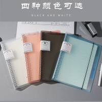 彩色活页夹金属可拆卸A4B5A5笔记本横线空白网格康奈尔简约透明手账本学生文具记事本子
