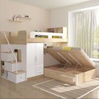 床上下床带书桌1.5米衣柜双层床高低床 1500mm*2000mm更多形式