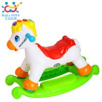 【当当自营】汇乐快乐摇马儿童音乐小木马摇摇马塑料滑行车摇摇车两用玩具987