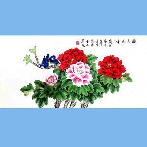 北京著名工笔画家,北京市美协会员,北京九久书画收藏文化交流中心画家凌雪(国色天香)2