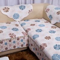 福存家居 沙发垫坐垫田园布艺全棉绗缝防滑 沙发巾罩盖巾沙发套飘窗垫