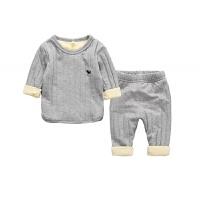 儿童保暖内衣套装加绒秋冬款新款男童小孩女童宝宝加厚家居服睡衣