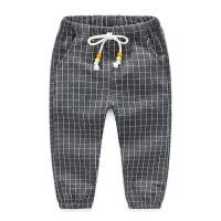男童运动裤 秋新款儿童运动裤子 宝宝运动裤格子休闲裤