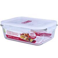 乐扣乐扣耐热玻璃保鲜盒微波炉专用饭盒1L大容量便当盒LLG445