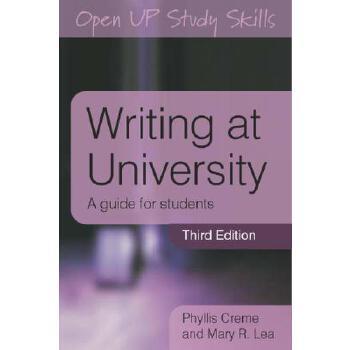 【预订】Writing at University: A Guide for Students 美国库房发货,通常付款后3-5周到货!