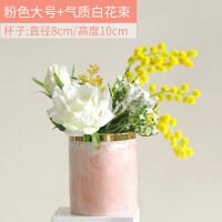 假花仿真玫瑰花束客厅摆设插花绢花餐桌装饰品花盆栽摆件塑料花艺