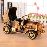 复古怀旧老爷车儿童玩具男孩子生日礼物八音盒仿真敞篷汽车音乐盒