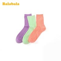 【1件7折价:34.3】巴拉巴拉儿童棉袜春季新款宝宝短袜男女童袜子中大童三双装洋气潮