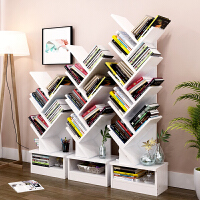 【用券立减50元】亿家达树形书架落地书柜简约现代组合书架带柜子创意书架简易书橱