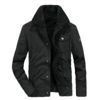 吉普JEEP冬装新品翻领加绒加厚保暖棉衣男外套1771短款男士棉袄