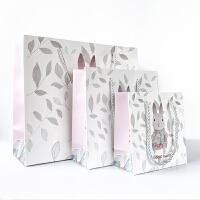 森系礼品袋可爱小清新礼物盒纸袋子手提袋生日节日情人*伴手礼袋包装