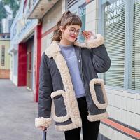 毛菇小象宽松小个子棉衣女2019新款时尚复古棉袄冬季加厚保暖