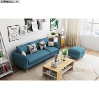 北欧沙发小户型三人位客厅现代简约经济型可拆洗布艺沙发整装家具