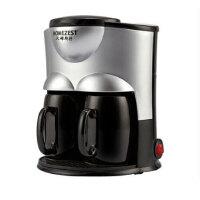 HOMEZEST CM-802迷你双杯咖啡机家用办公室双杯滴漏式美式咖啡壶泡茶 双杯咖啡机 90秒快煮 泡茶机