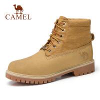 camel骆驼男鞋 秋季新品硬朗时尚高帮工装靴牛皮潮流马丁靴男靴子