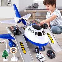 儿童飞机玩具车小汽车套装各类车消防工程车5益智多功能3-4岁男孩