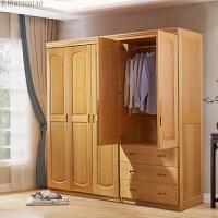 金博利家具实木衣柜平开门2门3门榉木衣柜卧室家具衣柜组合柜 榉木实木衣柜