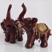 大象摆件一对大号客厅电视柜家居装饰品开业乔迁礼品