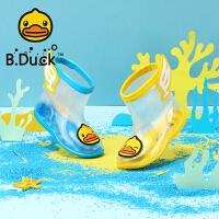 B.Duck小黄鸭童鞋儿童雨鞋夏季新款小学生透明水鞋男女童防滑耐磨雨靴B1210922