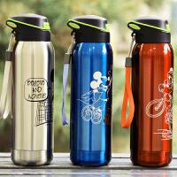 迪士尼吸管保温杯米奇不锈钢男女士运动儿童水杯子学生保温瓶 500ML
