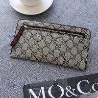 新款新款手包款女式钱包手拿包 流行时尚简约钱包休闲手机零钱包 卡其色 彩带卡其大花