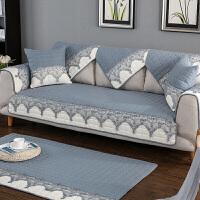 四季布艺防滑沙发垫坐垫套装