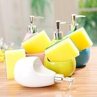 20191217180111029陶瓷卫浴用品洗手液瓶子 欧式创意时尚乳液瓶 卫浴室按压式沐浴露瓶洗发水瓶皂液器颜色随