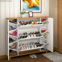 翻斗鞋柜简约现代大容量玄关门厅柜白色门口鞋架17cm北欧式 组装